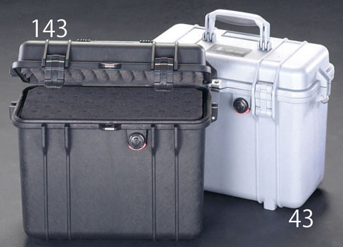 エスコ(ESCO) 344x146x297mm/内寸 万能防水ケース(黒) EA657-143