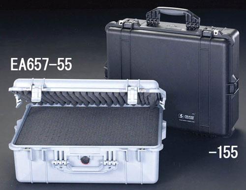 エスコ(ESCO) 468x355x193mm/内寸 万能防水ケース(黒) EA657-155