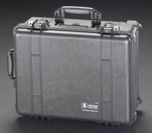 エスコ(ESCO) 517x392x229mm/内寸 万能防水ケース(黒) EA657-156