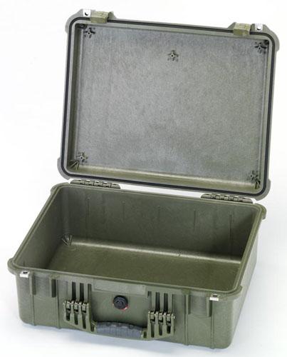 エスコ(ESCO) 544x419x200mm/内寸 防水ケース(OD/ウレタン無) EA657-160GN