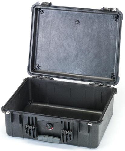 エスコ(ESCO) 544x419x200mm/内寸 防水ケース(黒/ウレタン無) EA657-160NF