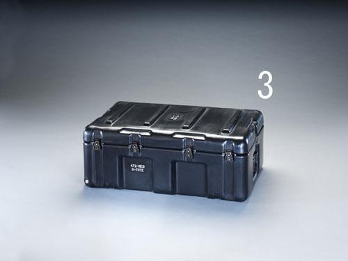 エスコ(ESCO) 736x457x274mm ストレージケース(トレー付/黒) EA657H-3
