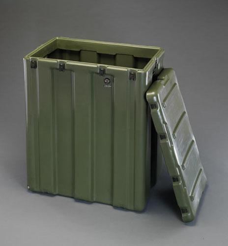 エスコ(ESCO) 736x457x982mm ストレージケース(キャスター付/OD色) EA657H-7G