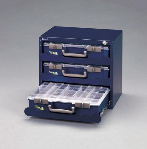 エスコ(ESCO) 451x330x403mm スチール製キャビネット[パーツケース付] EA661AB-115