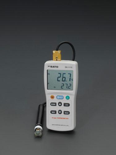 エスコ(ESCO)-73.3/+1371℃ デジタル温度計 EA701SG-1