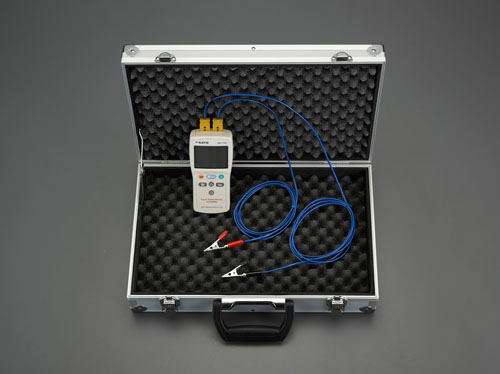 エスコ(ESCO) デジタル温度計セット(2点計測) EA701SG-23