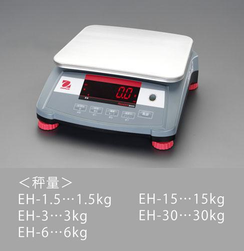エスコ(ESCO) 30kg(1.0g) 卓上型はかり EA715EH-30