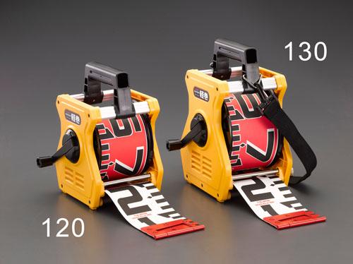 エスコ便利カタログNo.49:657P掲載 エスコ(ESCO) 100mmx10m 測量テープ(スタンド付) EA720MA-110