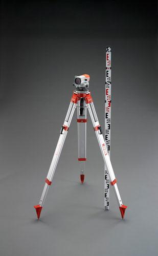 エスコ(ESCO) 24倍 オートレベルセット(三脚・ロッド付) EA721XK-1