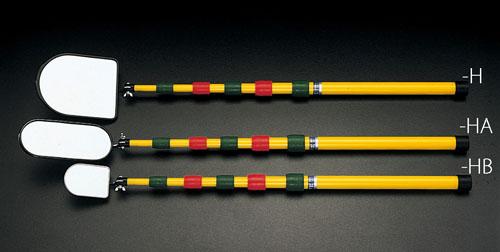 エスコ(ESCO) 73x100mm/0.6-2.0m 下水管ミラー(伸縮型) EA724HB