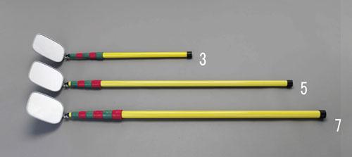 エスコ(ESCO) 175x140mm/0.72-3.0m 点検ミラー(絶縁型) EA724HC-3