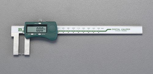 エスコ(ESCO) 200mm デジタルノギス(ネック型) EA725CS-200