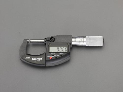 エスコ(ESCO) 0-25mm デジタルマイクロメーター EA725EF-25A