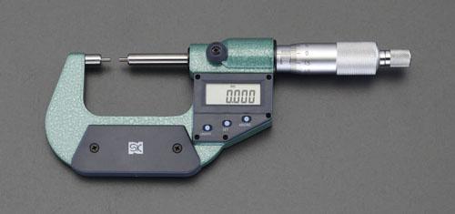 エスコ(ESCO) 0-25mm/φ3mm マイクロメーター(デジタル/細軸) EA725EH-42