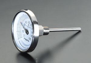 エスコ(ESCO) 0-200℃/100mm バイメタル式温度計 EA727AB-17