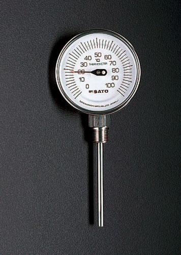 エスコ(ESCO)-30-50℃/100mmバイメタル式温度計 EA727AB-52