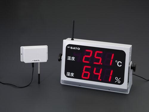 エスコ(ESCO) 360x202mm 大型デジタル温湿度計(コードレス) EA728AD-50