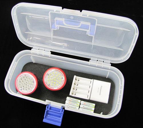 エスコ(ESCO) [単4x3本] 作業灯/LED(24灯・充電池セット) EA758C-924