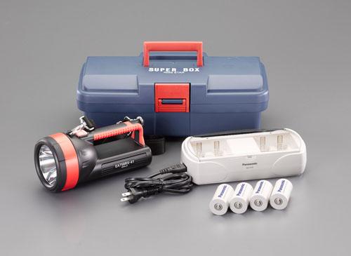 エスコ(ESCO) [単1x4本] フラッシュライト/LED(充電池セット) EA758RX-741