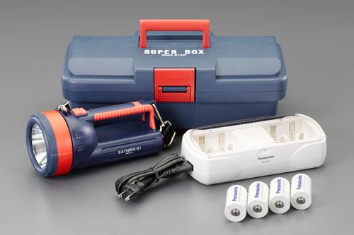 エスコ(ESCO) [単1x4本] フラッシュライト/LED(充電池セット) EA758RX-751