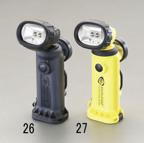 エスコ(ESCO) [充電式] フラッシュライト/LED(首振・マグネット付・黒) EA758SD-26
