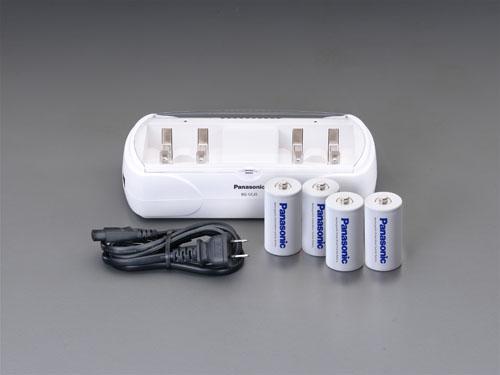 エスコ(ESCO) [単1-単4]充電器セット(ニッケル水素 単1x4本付 EA758YK-201A