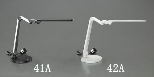 エスコ(ESCO) AC100V/13W 照明スタンド/LED(調光付/銀) EA761XA-41A