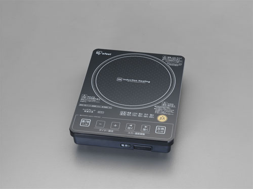 エスコ(ESCO) AC100V/1000W 235x300x65mm IH調理器 EA763AK-32
