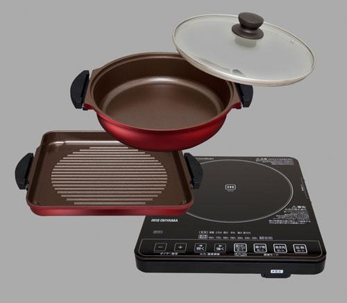 エスコ(ESCO) IH調理器・鍋プレートセット EA763AK-35