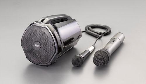 エスコ(ESCO) ワイヤレスマイク付拡声器スピーカー EA763CJ-3