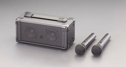 エスコ(ESCO) ワイヤレスマイク付 拡声器スピーカー EA763CJ-4