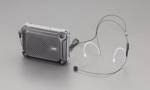 エスコ(ESCO) [防水型] ハンズフリー拡声器スピーカー EA763CJ-8