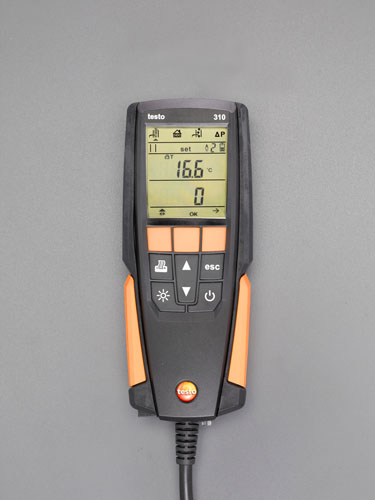 【セール期間中ポイント2~5倍!】エスコ(ESCO) O2、CO 燃焼排ガス分析計(プローブ一体型) EA770TA-2