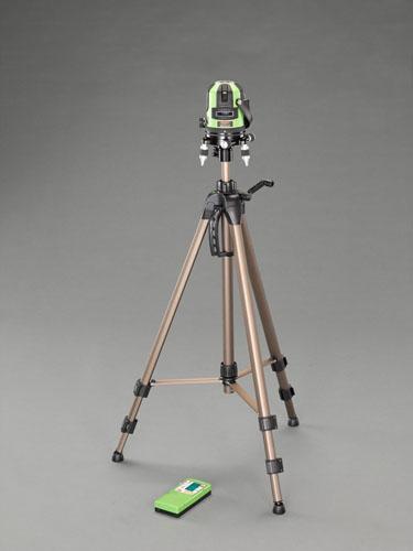 エスコ(ESCO) レーザー墨出し器 (グリーンレーザー・三脚・受光器付) EA780MB-12