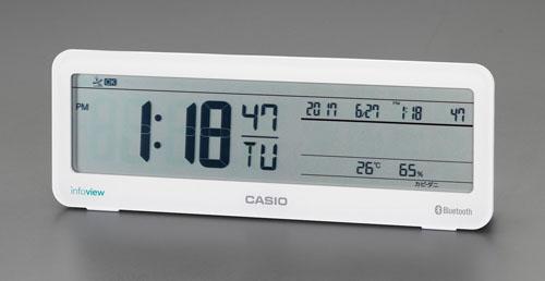 エスコ(ESCO) 93x262x59mm [電波]置時計(デジタル) EA798CA-121