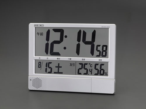エスコ(ESCO) 294x386x31mm [電波] 掛・置兼用時計(大型) EA798CS-54B