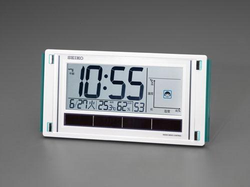 エスコ(ESCO) 166x325x27mm [電波]掛・置兼用時計(ソーラー) EA798CS-67