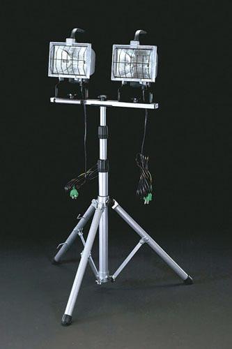 エスコ(ESCO) AC100V/500Wx2 作業灯(ハロゲン球) EA814EH-1