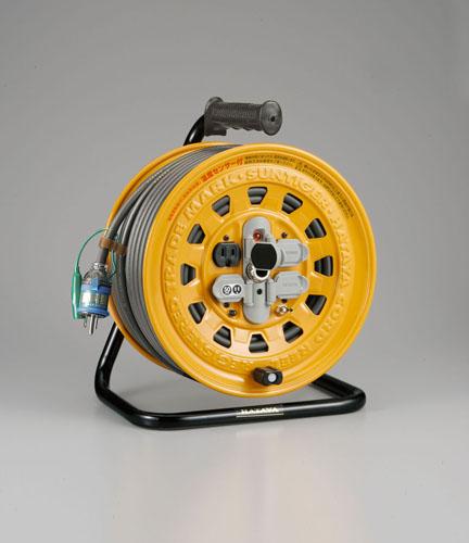 エスコ(ESCO) AC125V/15A/50m コードリール(漏電遮断付) EA815D-50