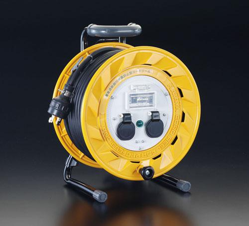 エスコ(ESCO) AC200V/19A/30m コードリール(漏電遮断器・抜止付 EA815DG-30L