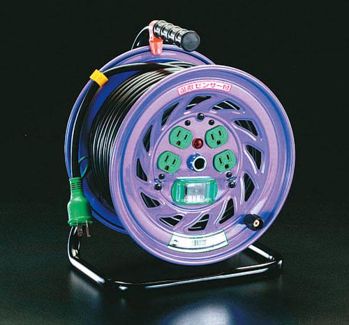 エスコ(ESCO) AC100V/15A/50m コードリール(漏電遮断器付) EA815DJ-50