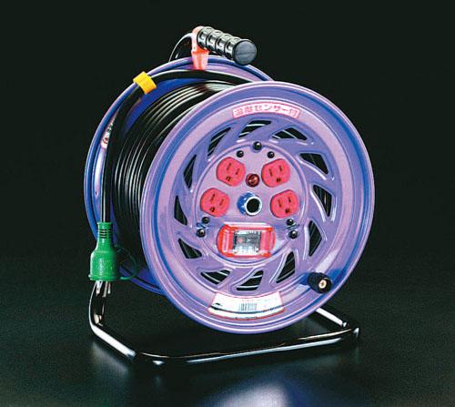 エスコ(ESCO) AC100V/15A/50m コードリール(過負荷漏電遮断) EA815DK-50