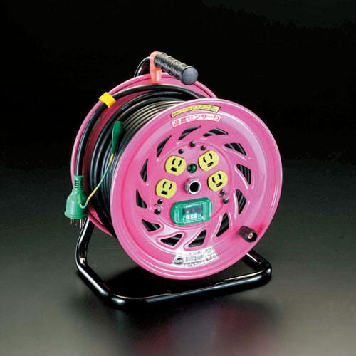 エスコ(ESCO) AC125V/22A/30m コードリール(抜け止・漏電遮断) EA815DV-2