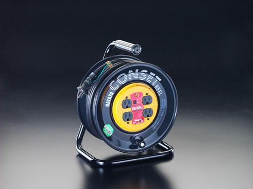 エスコ(ESCO) AC125V/15A/30m コンセント固定リール(漏電遮断) EA815FC-30