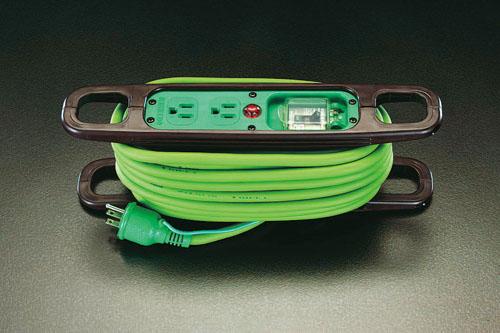 エスコ(ESCO) AC125V/22Ax10m コードリール(アース・ブレーカ付) EA815GV-11