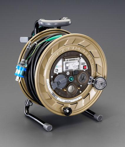 エスコ(ESCO) AC125V/15A/30m メタルセンサーリール(漏電遮断器付) EA815MS-30