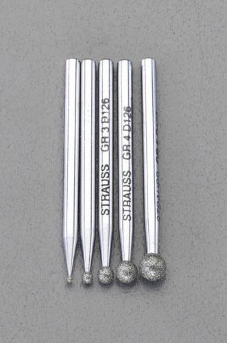 エスコ(ESCO) 5本組 ダイヤモンドバー(3mm軸) EA819SY-41