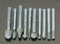 エスコ(ESCO) 10本組 ダイヤモンドバー(6mm軸) EA819SY-63