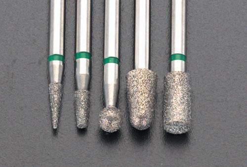 エスコ(ESCO) 5本組 ダイヤモンドバー(3mm軸) EA819XM