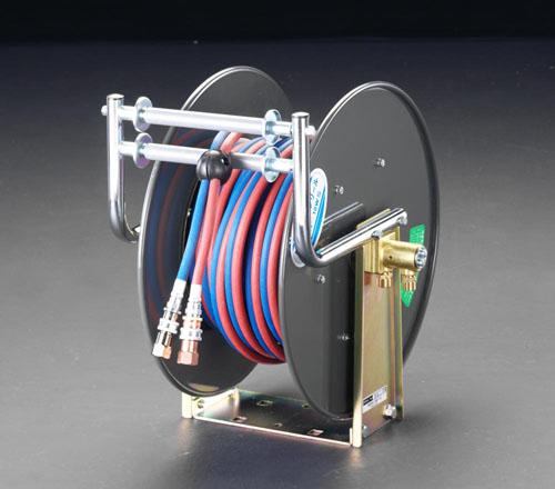 エスコ(ESCO) 10m ホースリール(自動巻/酸素・アセチレン用) EA300-31